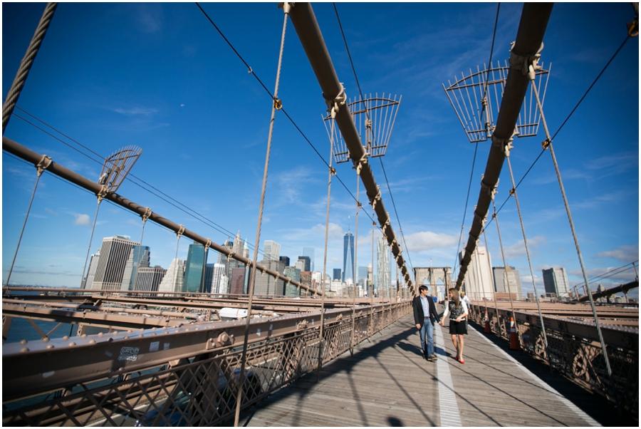 NYC Brooklyn Bridge Engagement Session - Destination Engagement Photographer