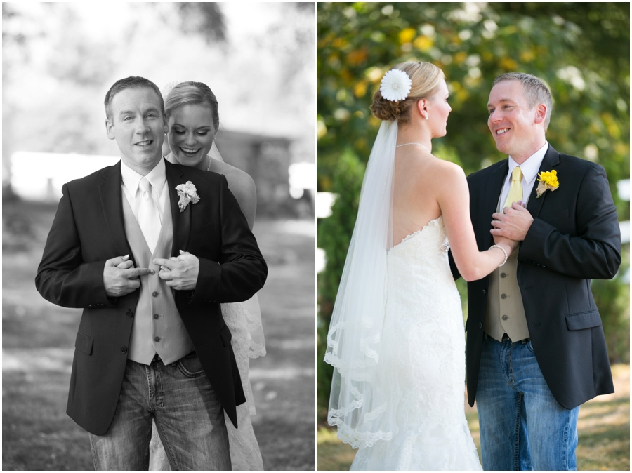 Washington Destination Wedding Photographer - Wine and Roses Country Estate First look