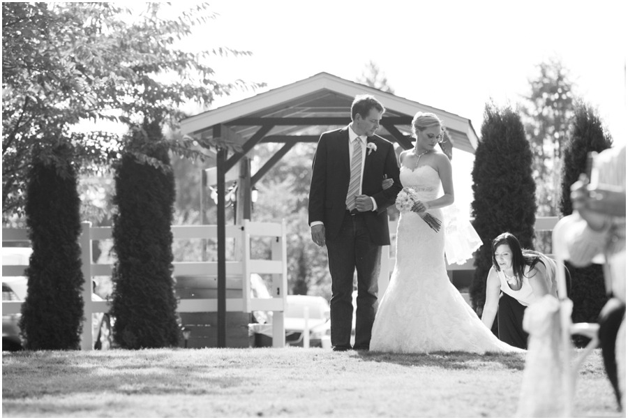 Seattle Destination Wedding Ceremony - Wine and Roses Country Estate Wedding