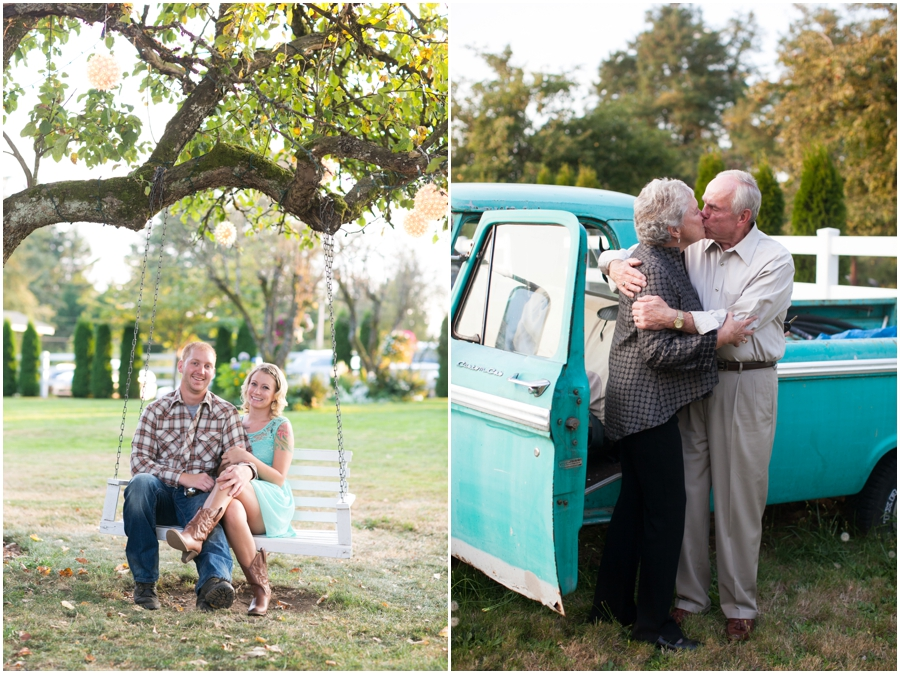 Mint Vintage Truck - Seattle Destination Anniversary Photographer - Wine and Roses Country Estate Wedding