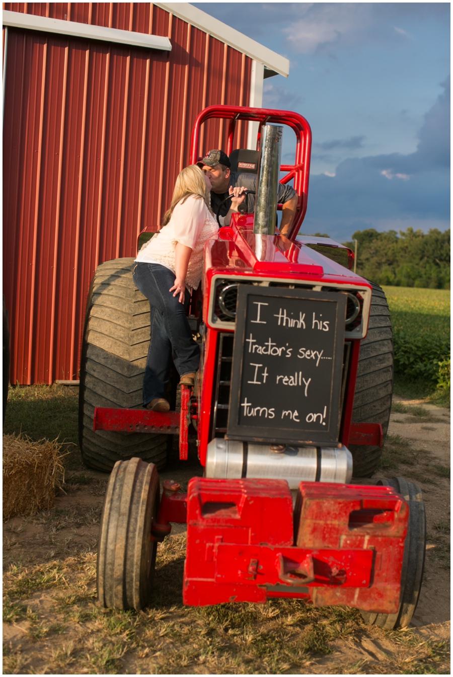 Tractor Farm Engagement - Traveling Philadelphia Engagement Photographer