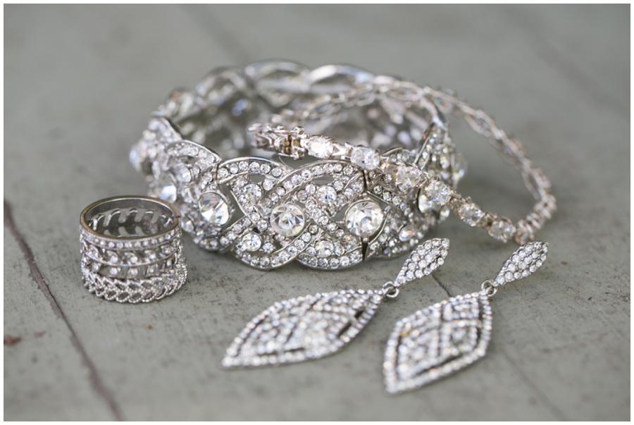 Chic Tidewater Inn Wedding Jewelry - Easton Wedding Photography