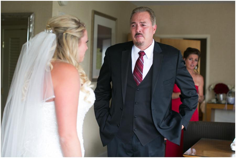 Hyatt Regency Eastern Shore Wedding Photographer - Men's Wearhouse Father's First Look
