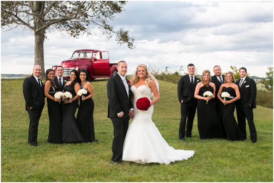Hyatt Chesapeake Bay Wedding Party Photograph - Antique Chevrolet Red Truck