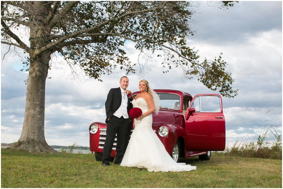 Hyatt Chesapeake Bay Wedding Photographer - Antique Chevrolet Red Truck