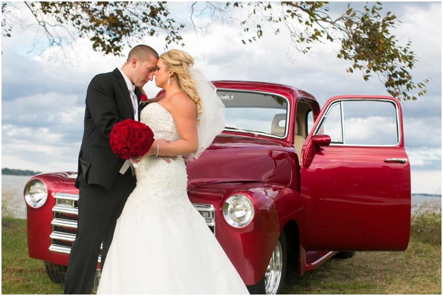 Hyatt Chesapeake Bay Wedding Photographer - Red Antique Chevrolet Truck