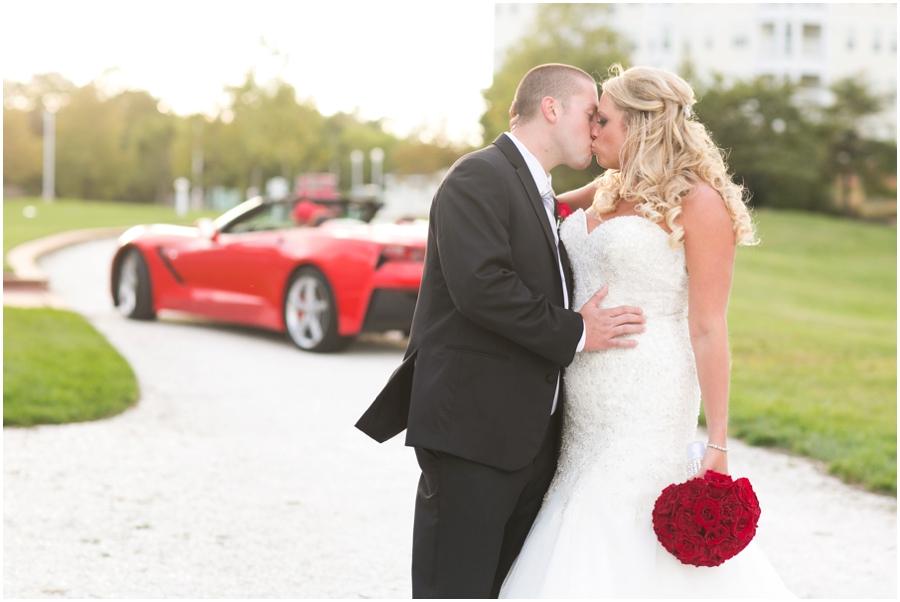 Hyatt Chesapeake Bay Wedding Photographer - Red Corvette