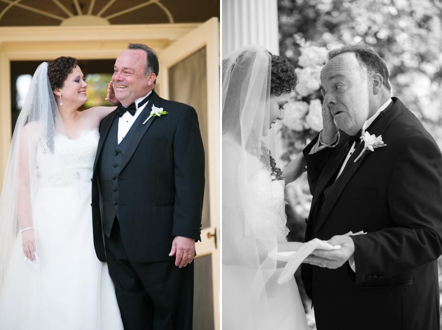 Leesburg VA Father Daughter First Look - Elizabeth Bailey Weddings
