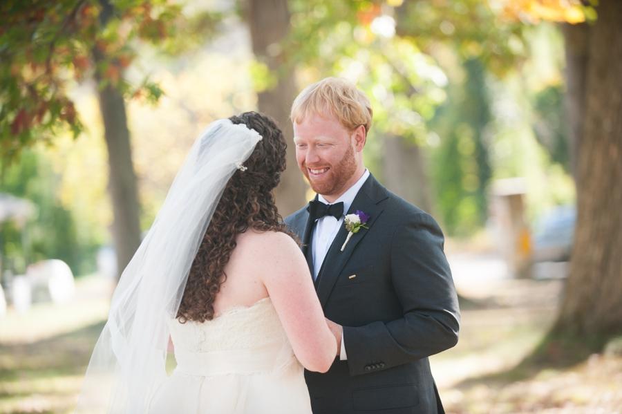 Leesburg VA First Look - Elizabeth Bailey Weddings