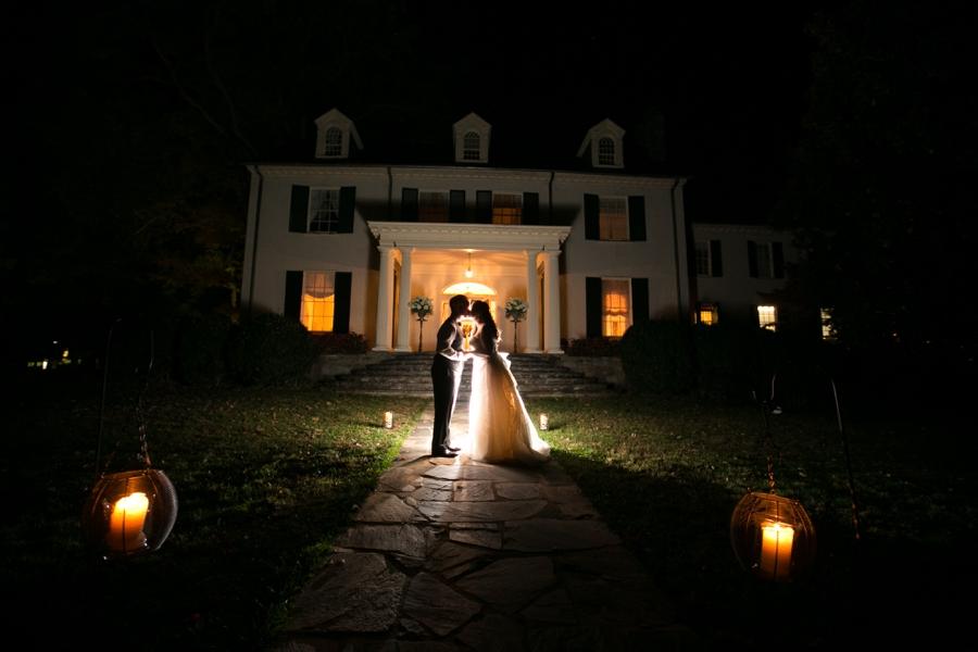 Rust Manor House Bubbles Exit Reception - Elizabeth Bailey Weddings