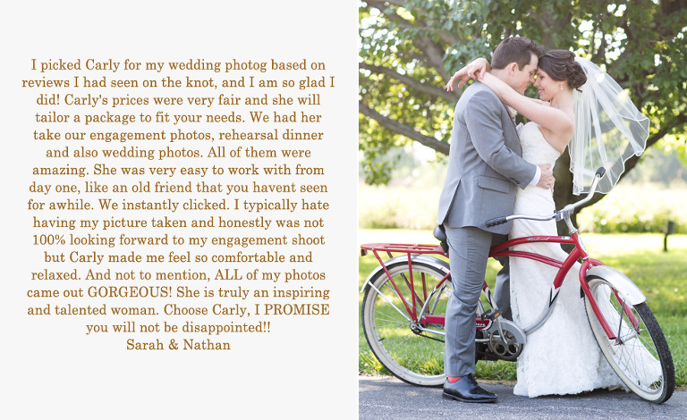 Kent Manor Inn Wedding Photographer Testimonial