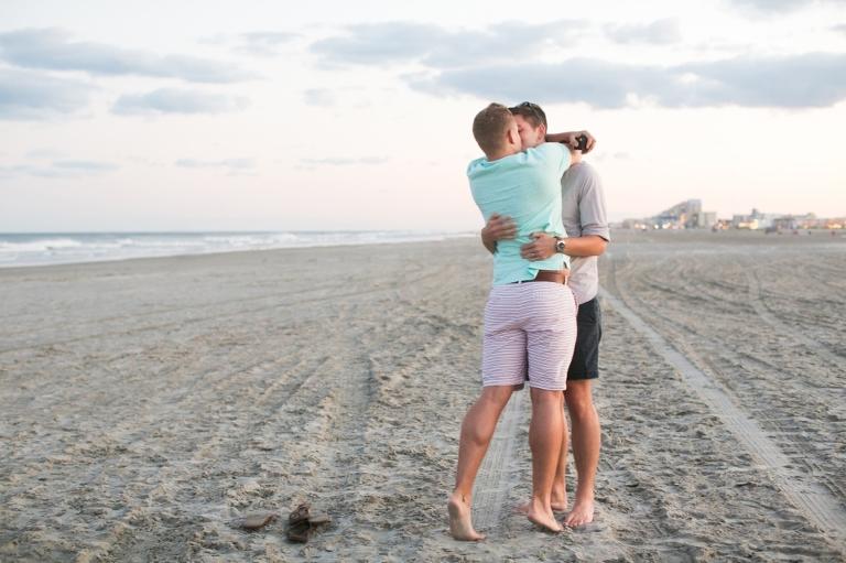New Jersey Shore LGBT Engagement Photograph