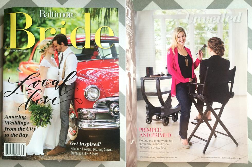 Baltimore Bride Magazine - Featured Unveiled Wedding Photographer