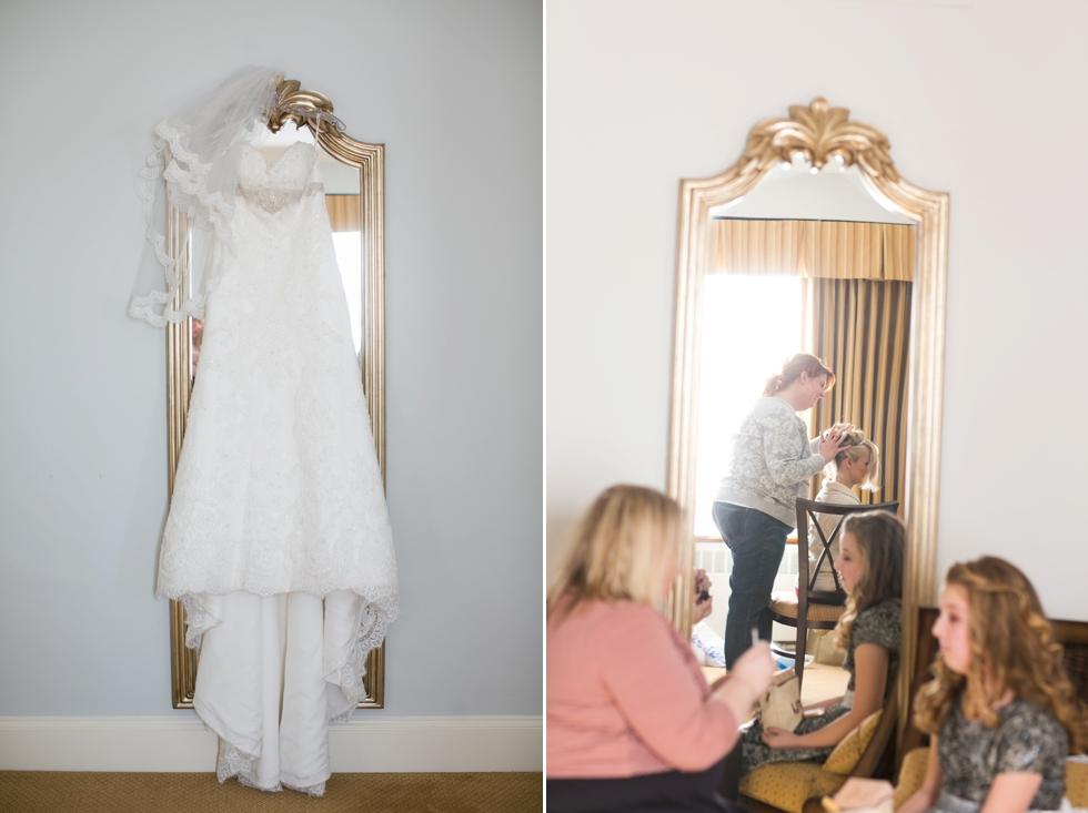 Tidewater Inn winter wedding - Casablanca Bridal