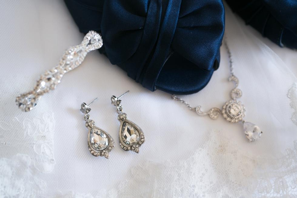 Tidewater Inn wedding photography - Navy Blue Nina Bridal Shoes