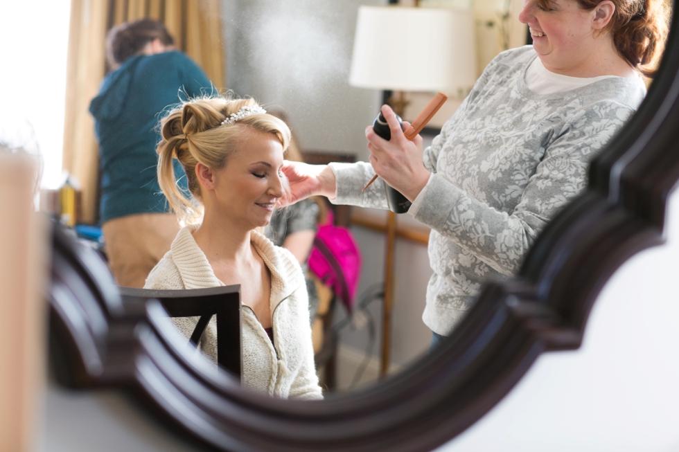 Tidewater Inn wedding photography - Bridal Suite Getting Ready
