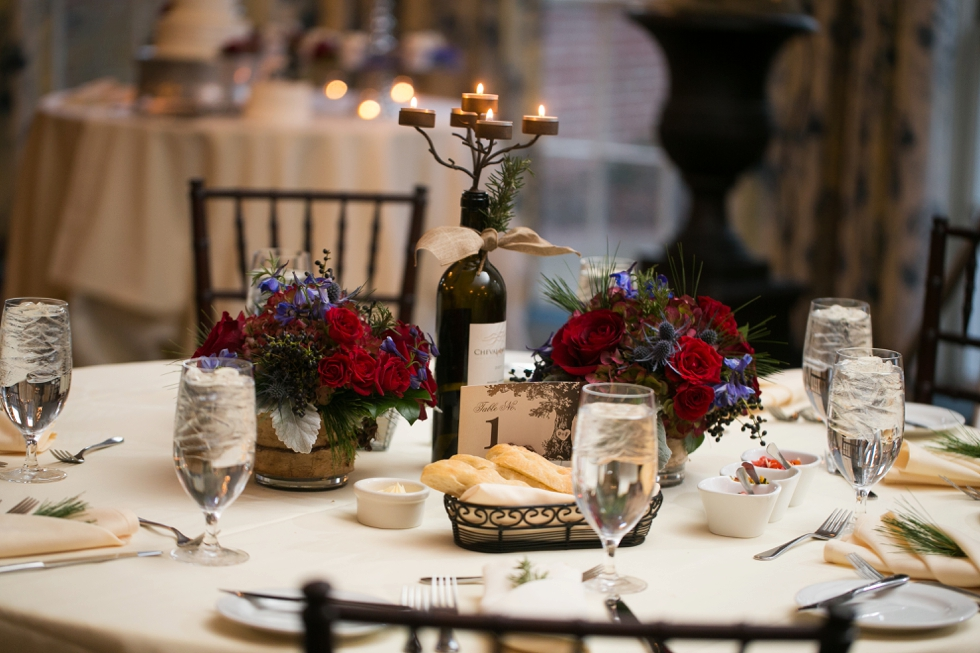 Tidewater Inn winter wedding Photographer - Monteray Farms Floral design