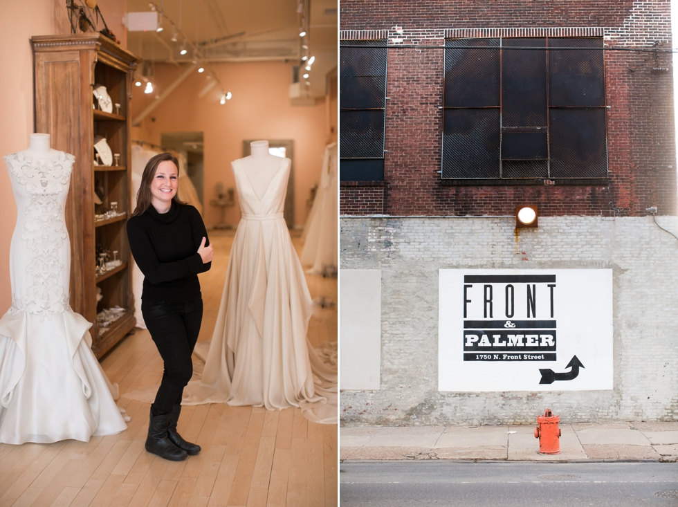 Front & Palmer - Lovely bridal shop philadelphia - Old City wedding Photography