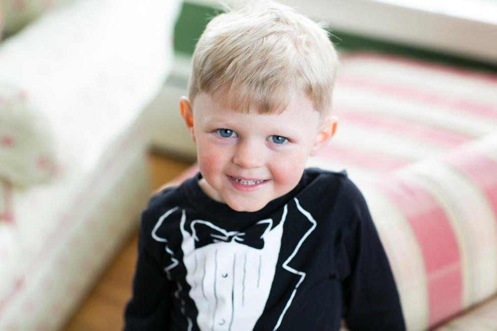 Baltimore Wedding Photographer - Ring Bearer Tux Shirt