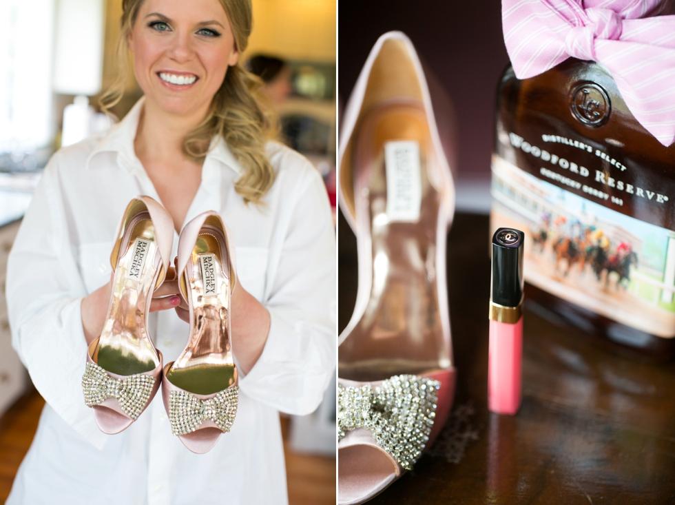 Baltimore Wedding Photographer - Badgley Mischka Bridal Shoe
