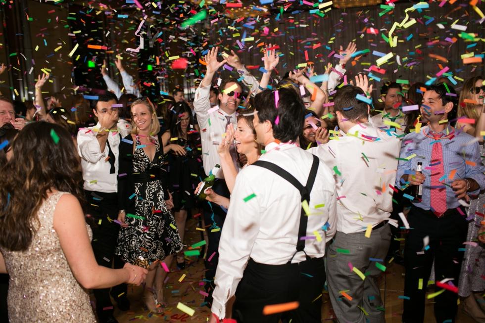 Four Seasons Hotel confetti exit- Elizabeth Bailey Wedding design