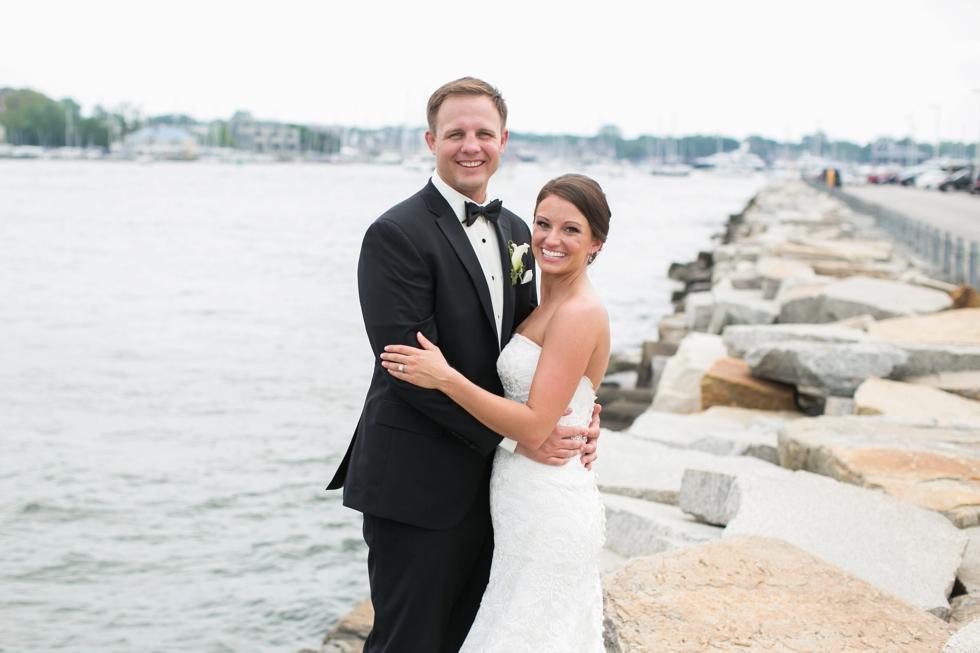Naval Academy Rock Wall Wedding Photographer