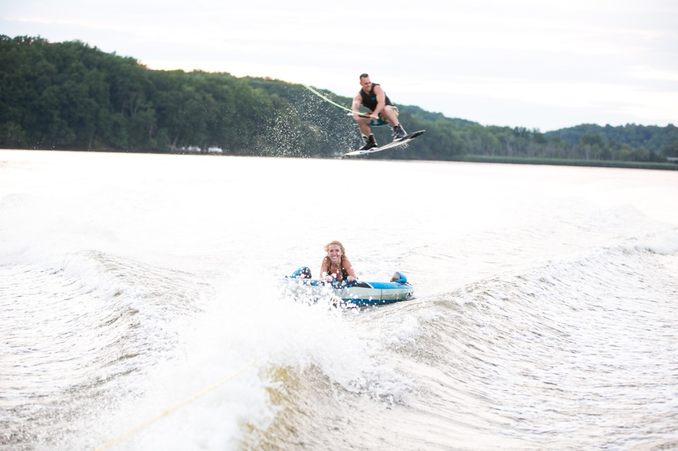 Power Boat Wakeboarding Engagement Photograph