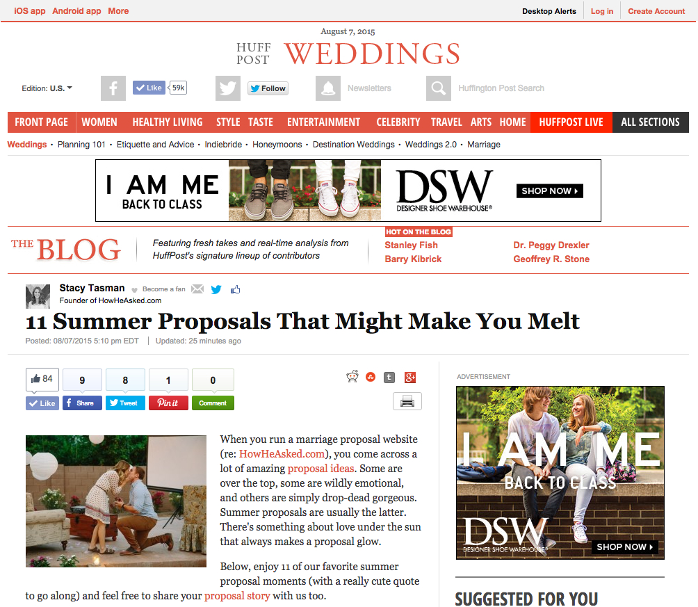 LGBT Jersey Shore Proposal - Huffington Post Featured Photographer