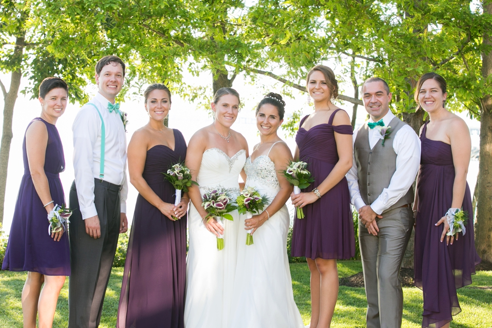 Shore Wedding Photographer - Two Brides Wedding Party