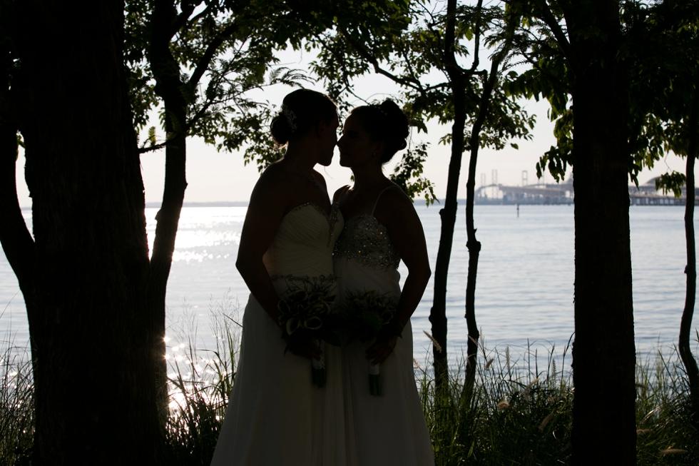 Bay Bridge Wedding Photographer - Two Brides Wedding Photographer