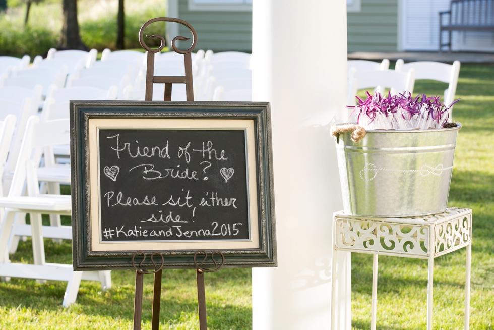 Chesapeake Bay Beach Club Wedding Photographer - Two Brides Wedding Ceremony