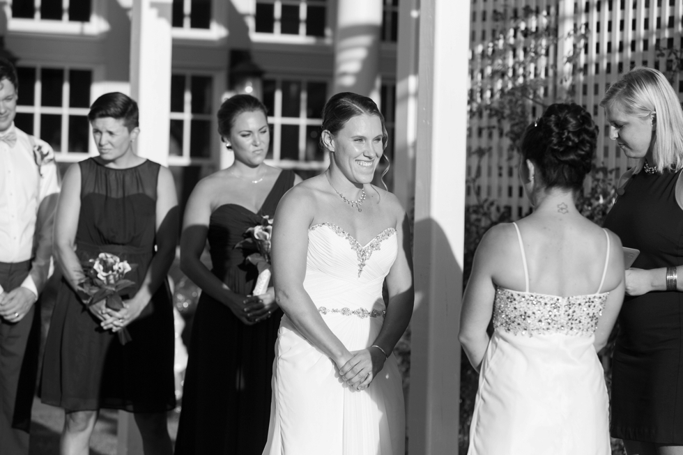 Chesapeake Bay Beach Club Wedding Photographer - Shore wedding ceremony