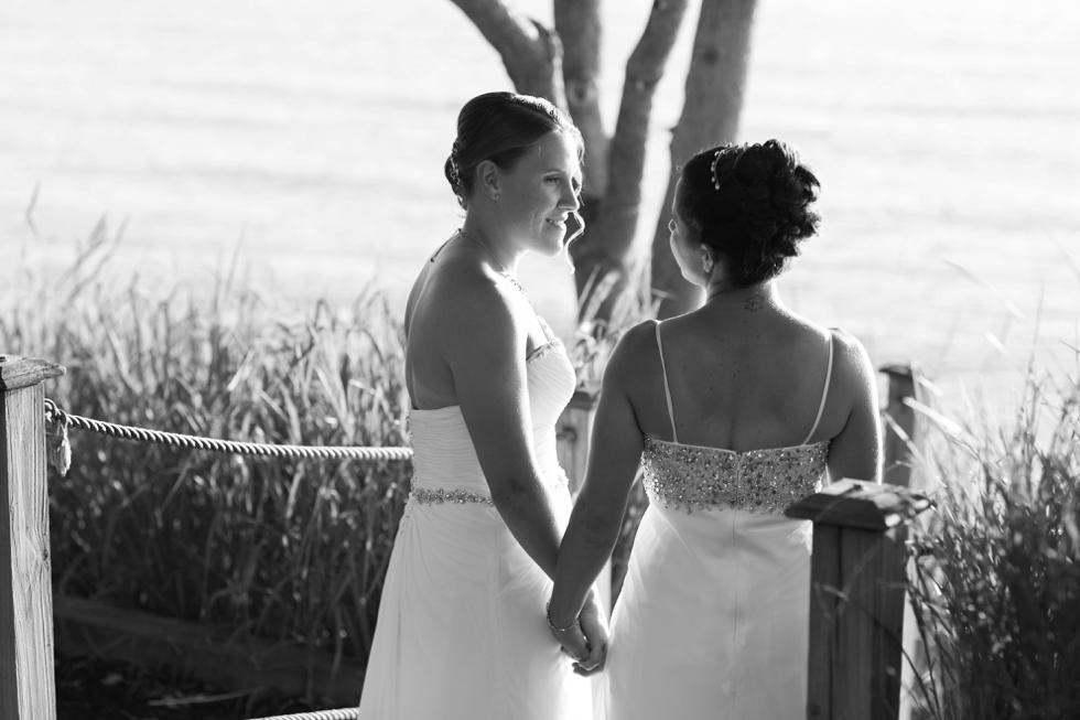 Two Brides Beach Wedding - Philadelphia Wedding Photographer