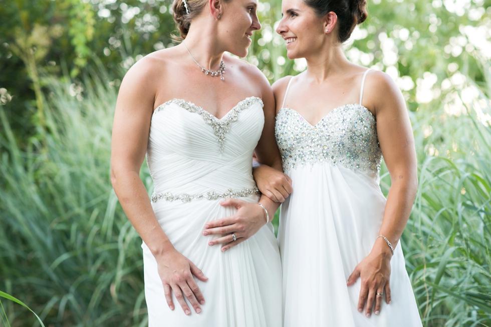 Two Brides Beach Wedding - Annapolis LGBT Wedding Photographer