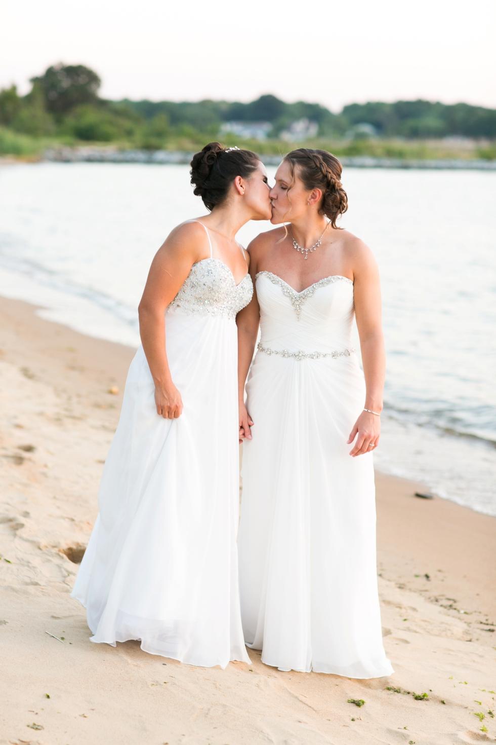 Chesapeake Bay Beach Club Two Brides Wedding Photographer