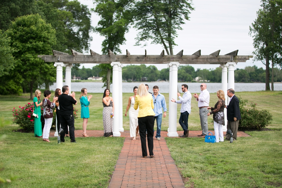 Philadelphia wedding rehearsal at Pen Ryn Estate