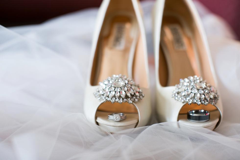 Badgley Mischka Bridal wedding shoe photographer