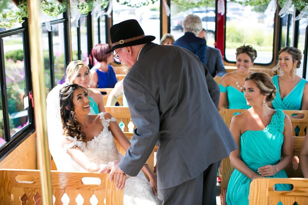 Shore wedding photographer - Annapolis Trolley