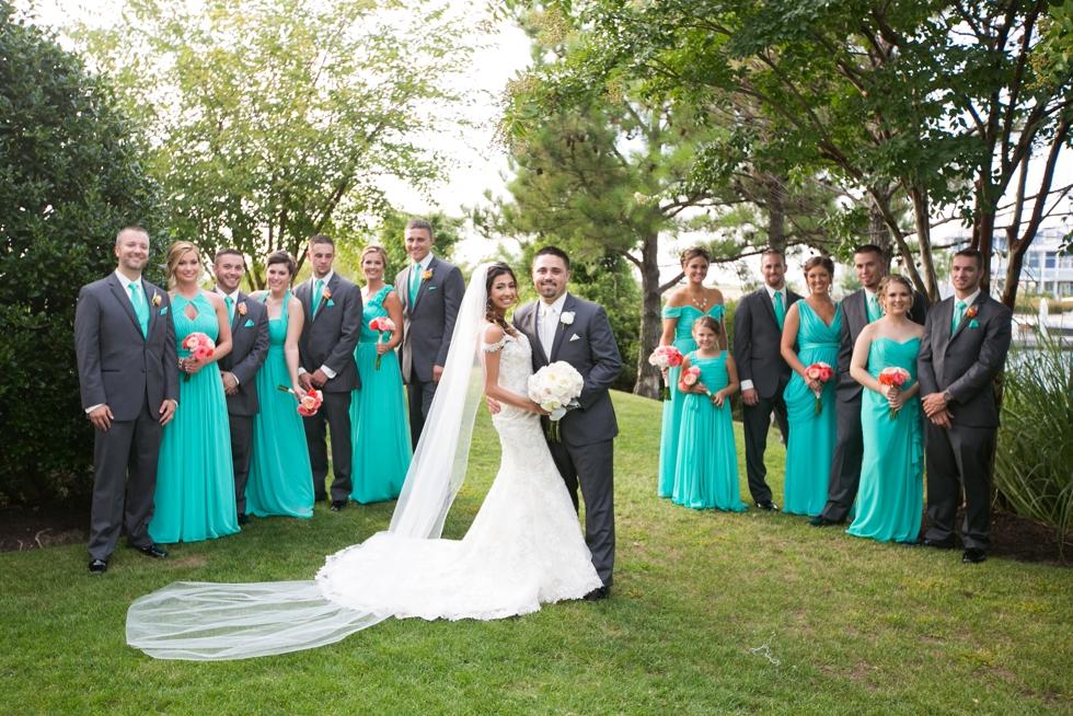 Chesapeake Bay Beach Club Wedding Party - My flower box events design