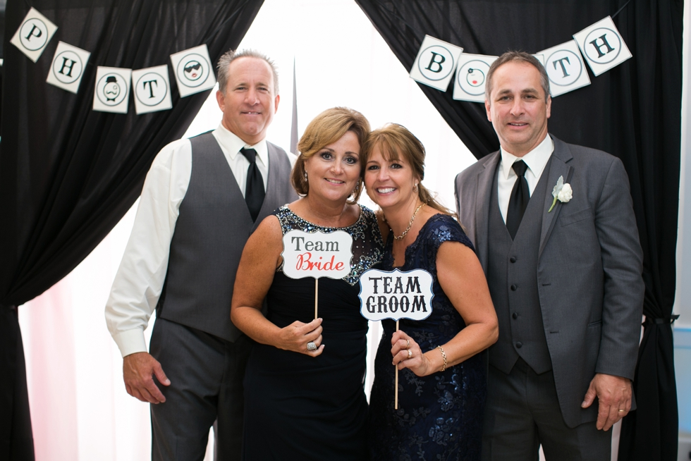 Chesapeake Bay wedding Reception - Bow Tie Booths