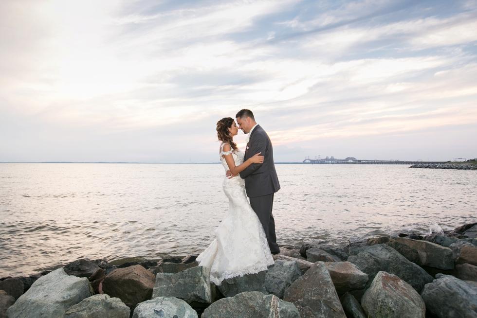 Chesapeake Bay Beach Club sunset wedding photography