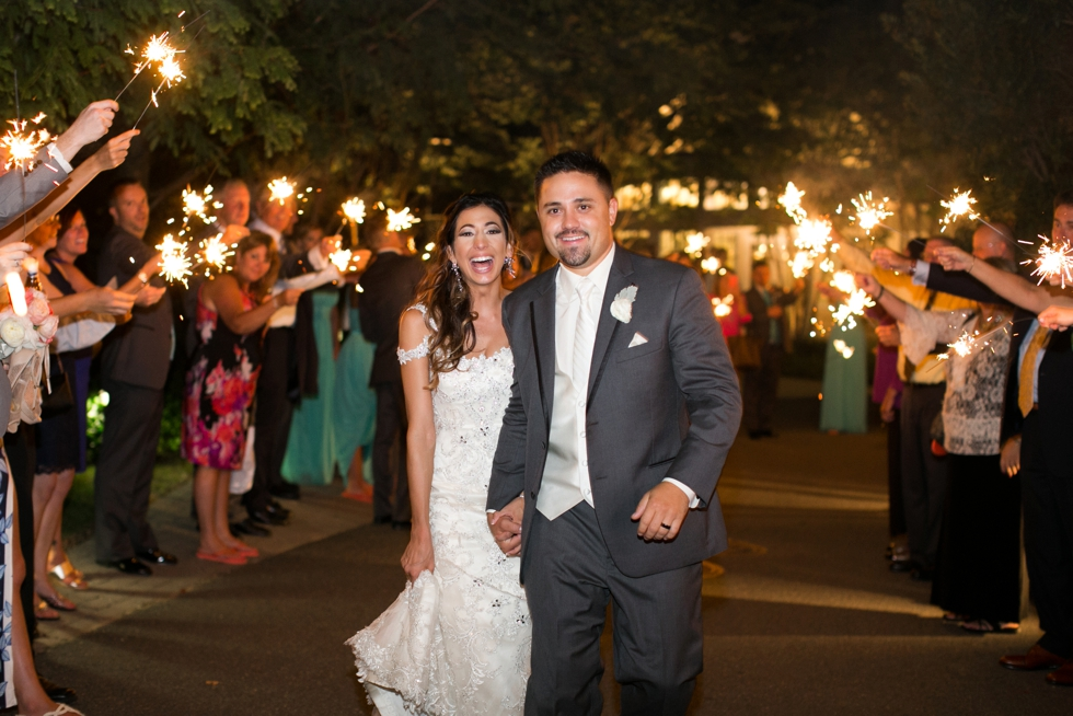 Shore Wedding Reception - Sparkler Exit - Chesapeake Bay Beach Club