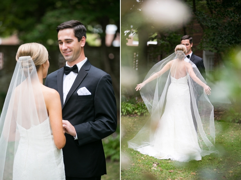 First Look - Estate Wedding Photographer in Maryland