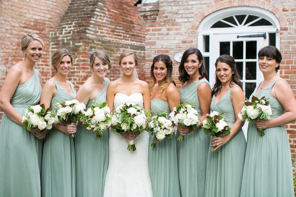 Tidewater Inn Easton Wedding Photographer - Sage Jcrew Bridesmaid