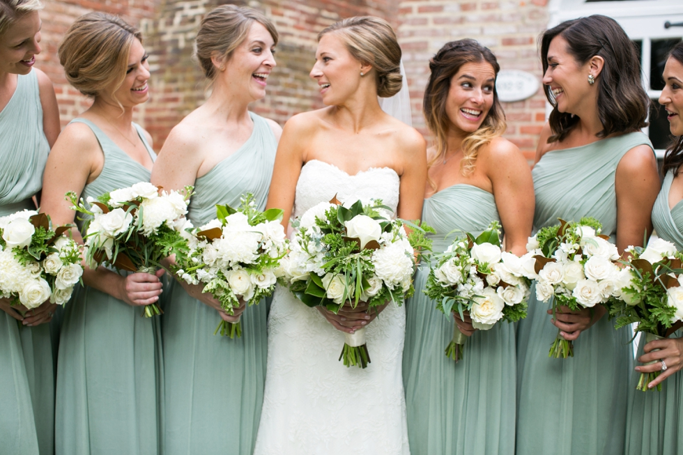 Tidewater Inn Easton Wedding Photographer - Green Jcrew Bridesmaid