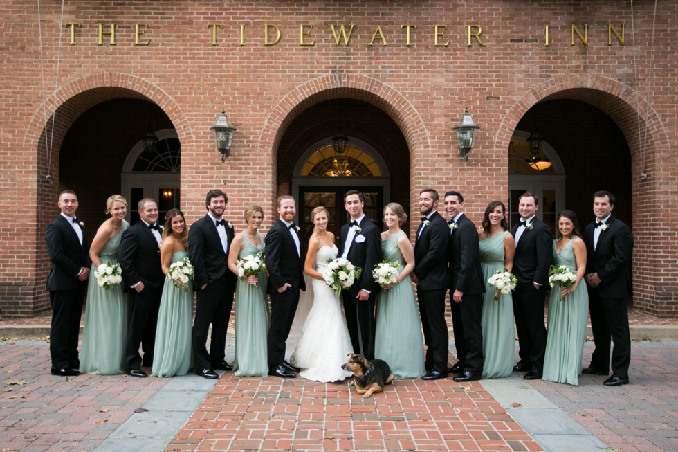 Tidewater Inn Estate Wedding Party Photographs