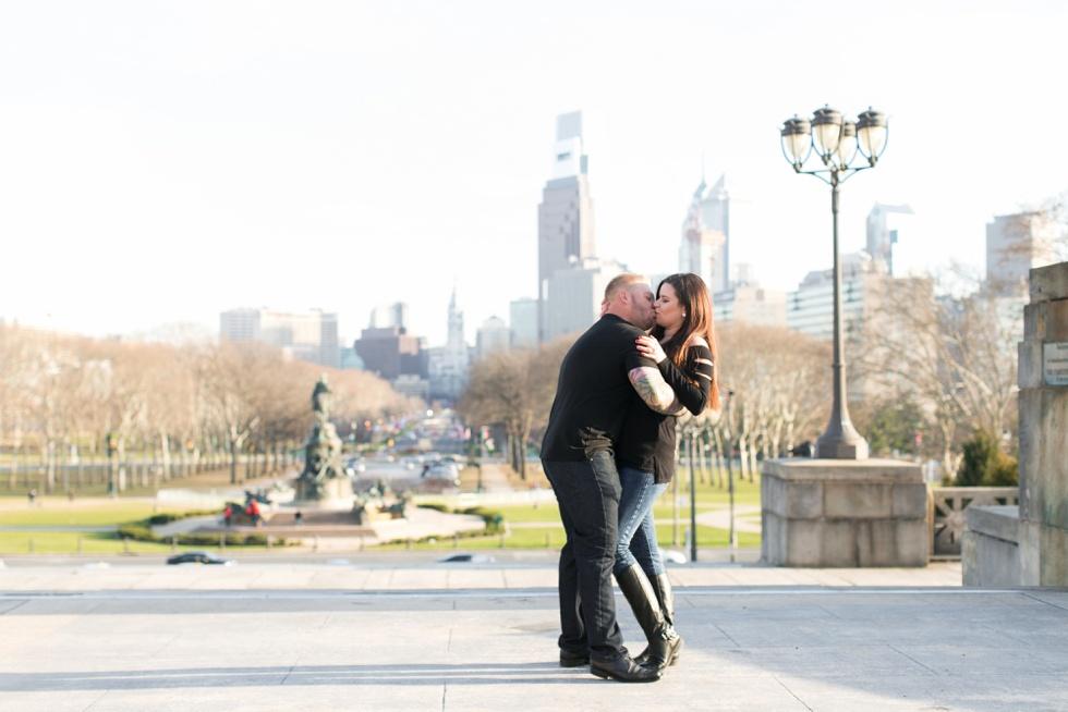 Philadelphia museum of art engagement photography