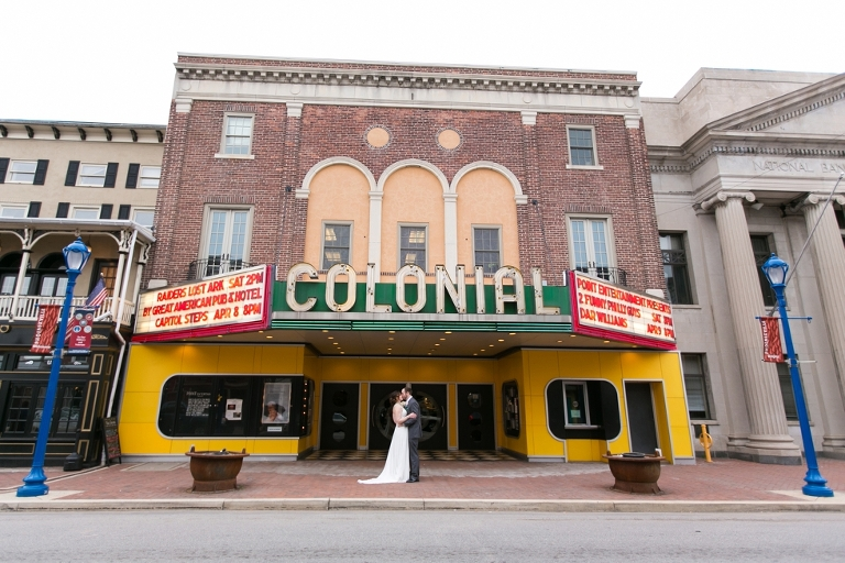 The Colonial Theatre Wedding Phoenixville Pa Photographer