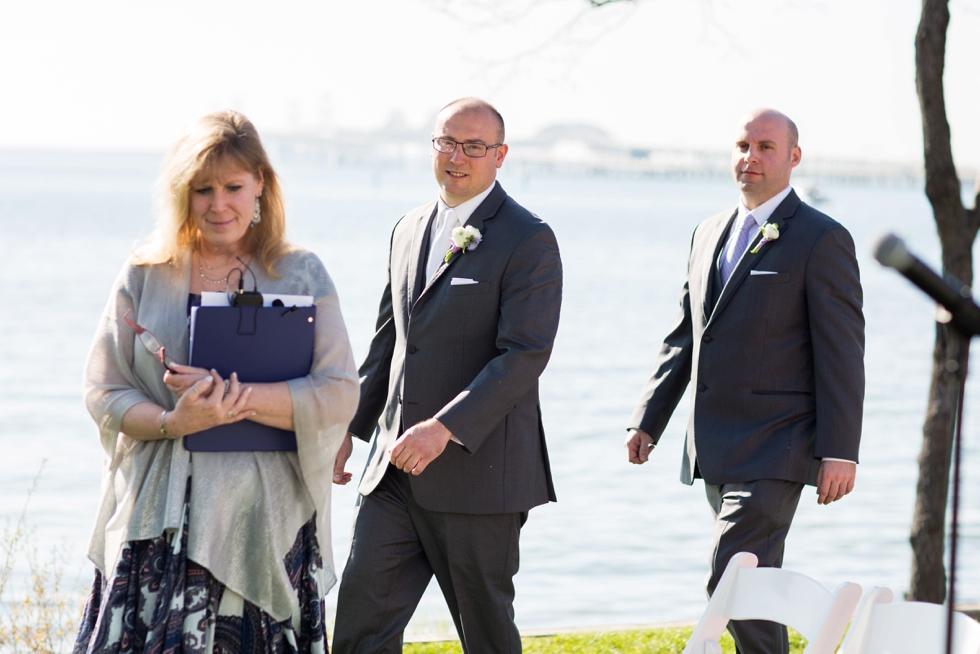 Chesapeake Bay Beach Club outdoor ceremony - Associate Wedding