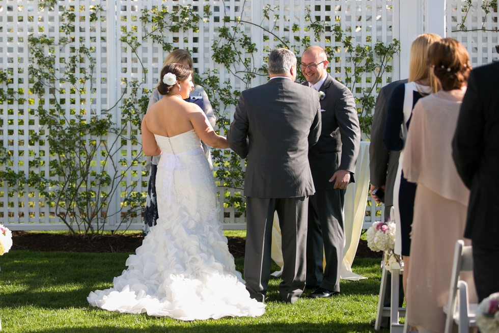 Chesapeake Bay Beach Club outdoor ceremony - Associate Erin & Caitlin Wedding